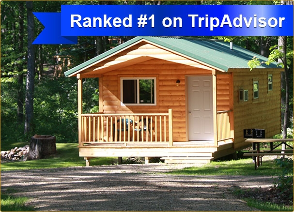 rent affordable camping cabins in wisconsin dells at fox hill Cabin Camping In Wisconsin