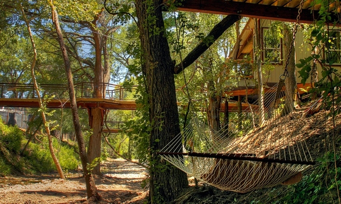 river road treehouses in new braunfels tx groupon getaways Cabins In New Braunfels Tx