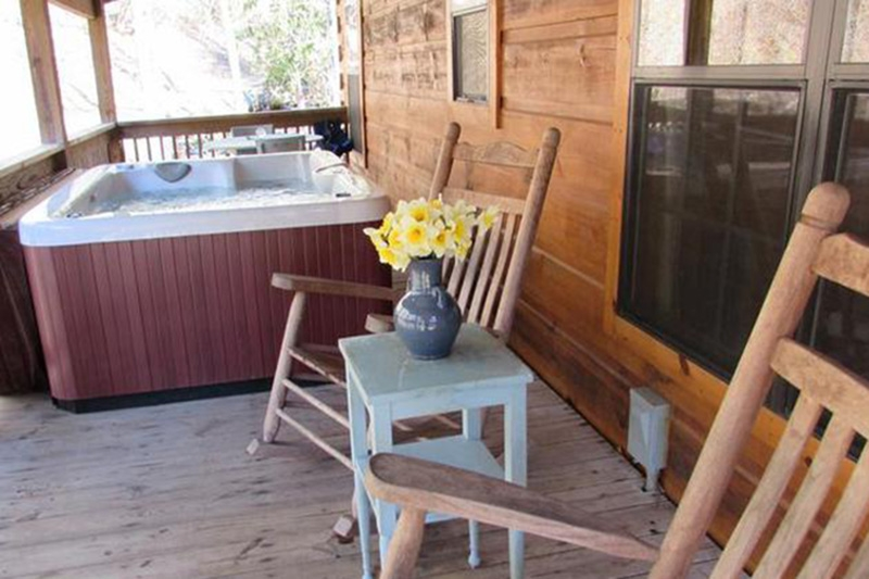 romantic log cabins with private hot tubs hot springs nc mountains Hot Springs Cabins With Hot Tubs