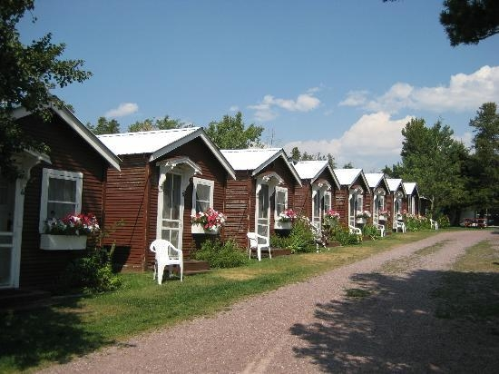 row of cabins picture of east glacier motel cabins east glacier East Glacier Motel And Cabins
