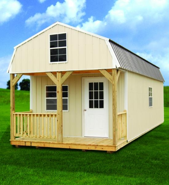 sheds of texas Lofted Barn Cabin Rent To Own