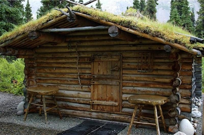 short video documents alaska mountain man building amazing off grid Building A Cabin In The Alaskan Wilderness