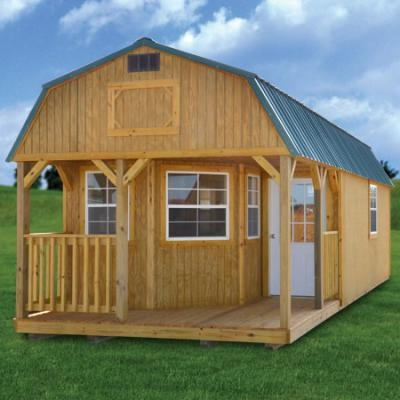 simpco portable buildings derksen deluxe lofted barn cabin Lofted Barn Cabin Rent To Own