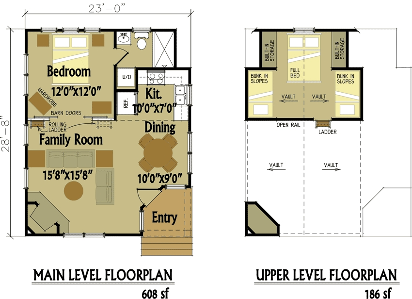 small cabin designs with loft small cabin floor plans Tiny Cabin Floor Plans With Loft