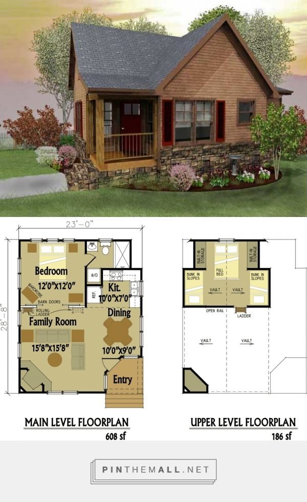 small cabin designs with loft tiny house love pinterest house Tiny Cabin Floor Plans With Loft