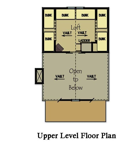 small cabin plan with loft small cabin house plans Small Cabin With Loft Floor Plans