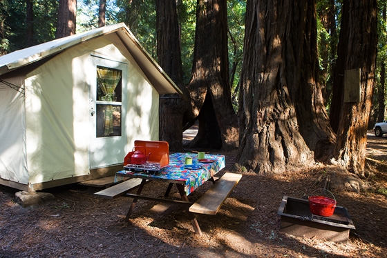 tent cabin camping fernwood campground resort big sur california Cabin Camping In California