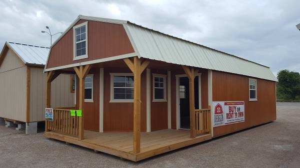 the beeville news 250959 16x40 deluxe lofted barn cabin general Deluxe Lofted Barn Cabin For Sale