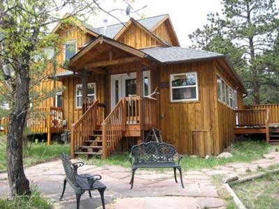 three peaks cabin pine creek cabins Estes Park Cabins With Private Hot Tubs