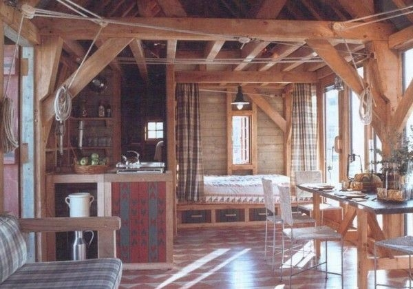 tiny cabin with fold out porch stealth off grid cabin living no Small Off Grid Cabin Interior