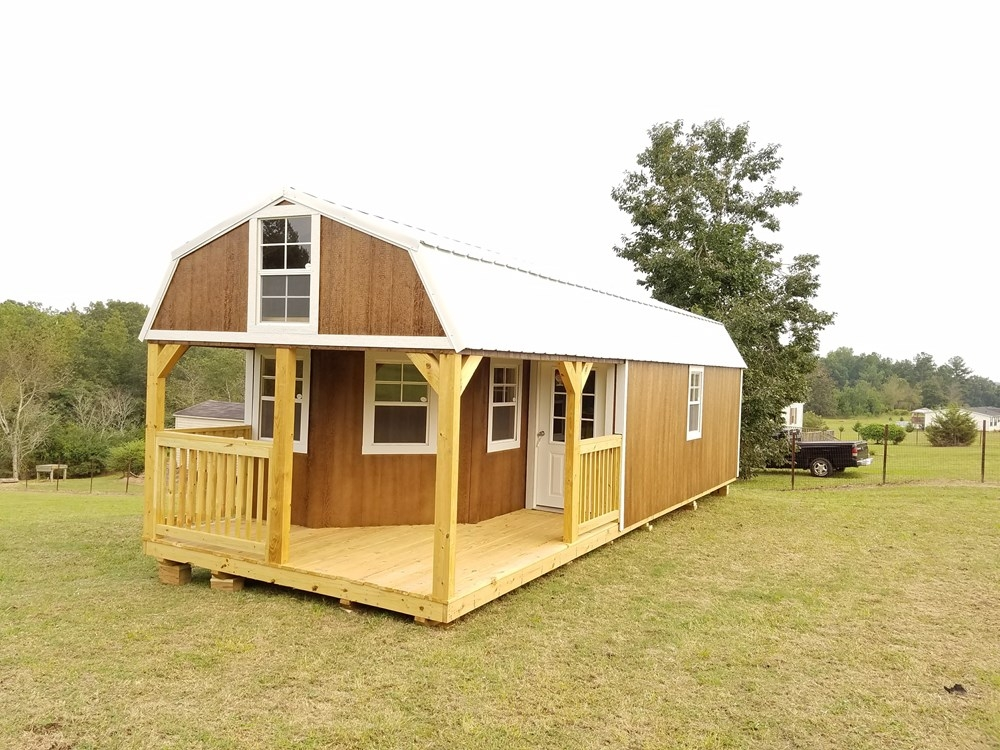 tiny house for sale deluxe lofted barn cabin Lofted Deluxe Barn Cabin Building