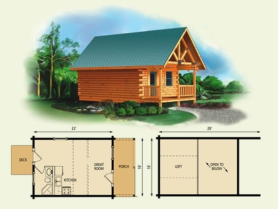 unique small log cabin floor plans with loft cabin ideas plan loft Cabin Floor Plans With Loft