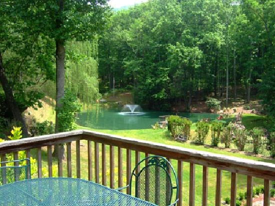 view of pond from moms manor picture of asheville cabins of Asheville Cabins Of Willow Winds