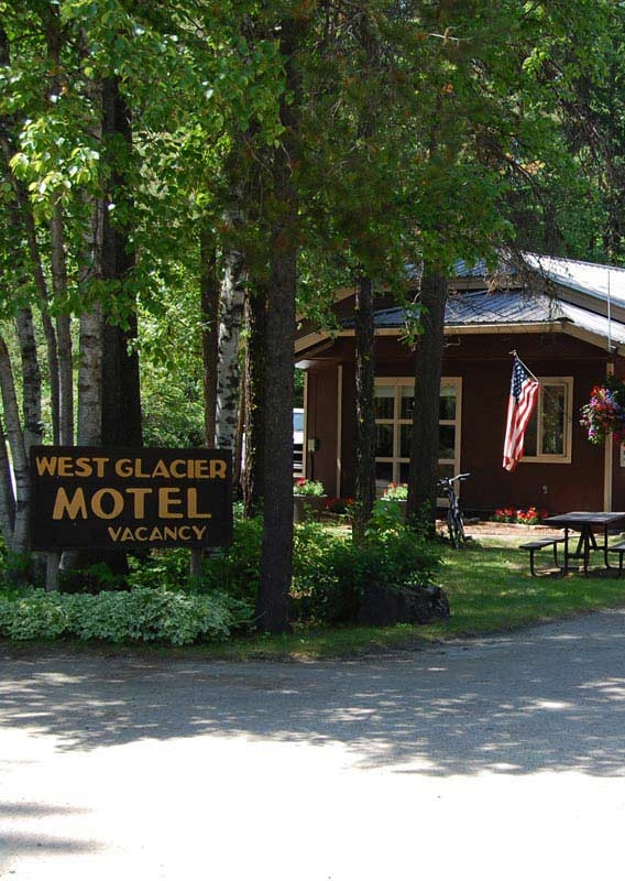 west glacier village motel cabins rv park dining and shopping Cabins Near Glacier National Park