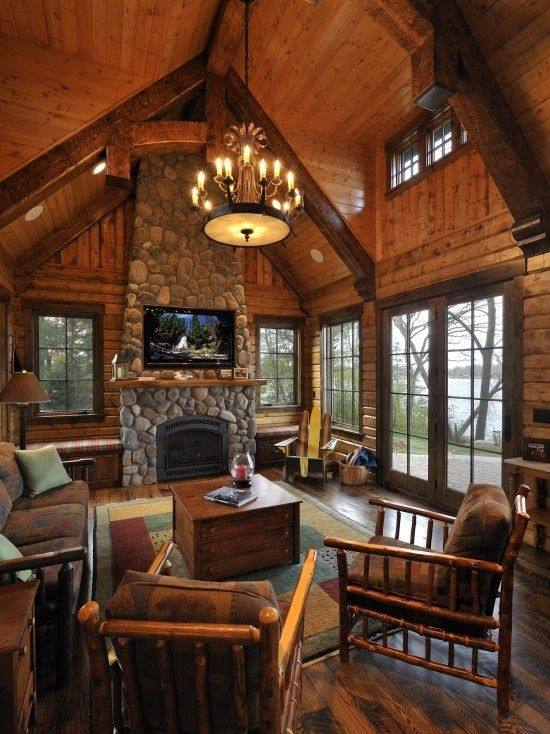 10 high ceiling living room design ideas countrymountain home Country Cabin Living Room Ideas