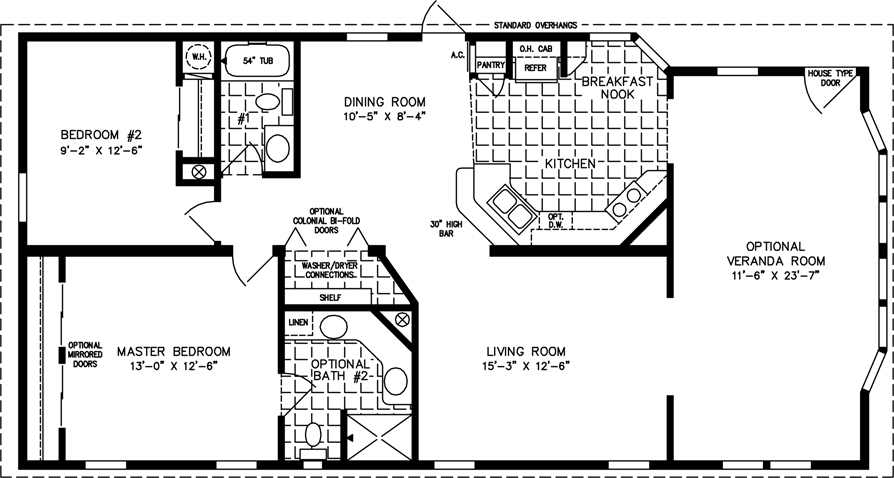 1000 to 1199 sq ft manufactured home floor plans jacobsen homes 1000 Sq Ft Cabin Floor Plans
