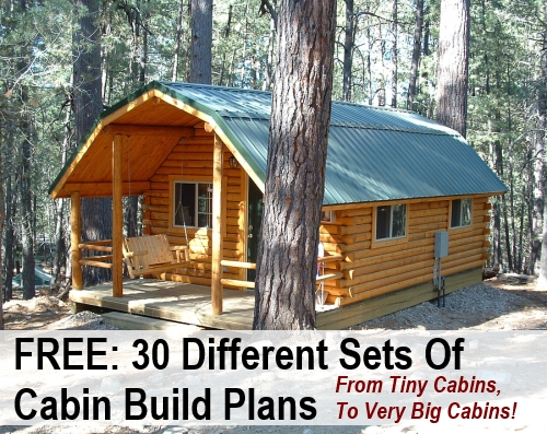 30 free diy cabin blueprints Small Cabin Plans With Loft Free