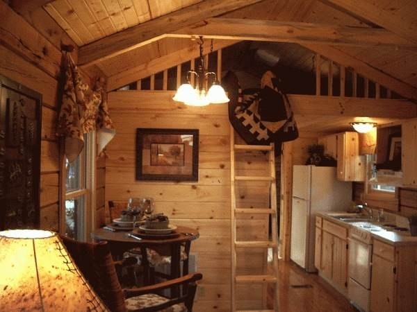 400 sq ft oak log cabin on wheels Small Log Cabins With Loft