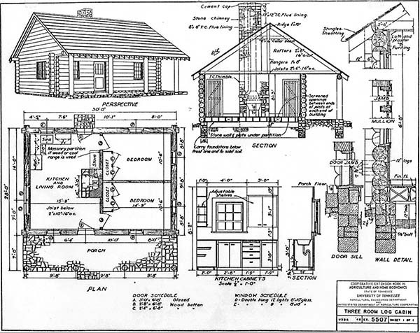 52 free diy cabin and tiny home blueprints Small Cabin Plans With Loft Free