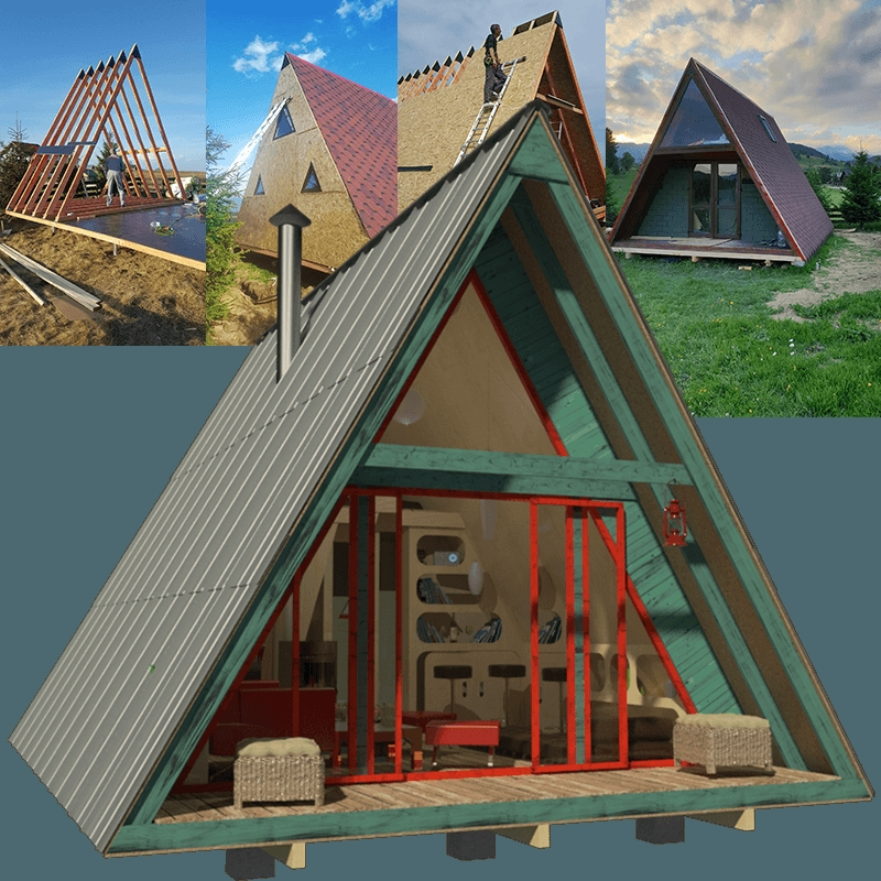 a frame tiny house plans A Frame Cabin With Loft Plans