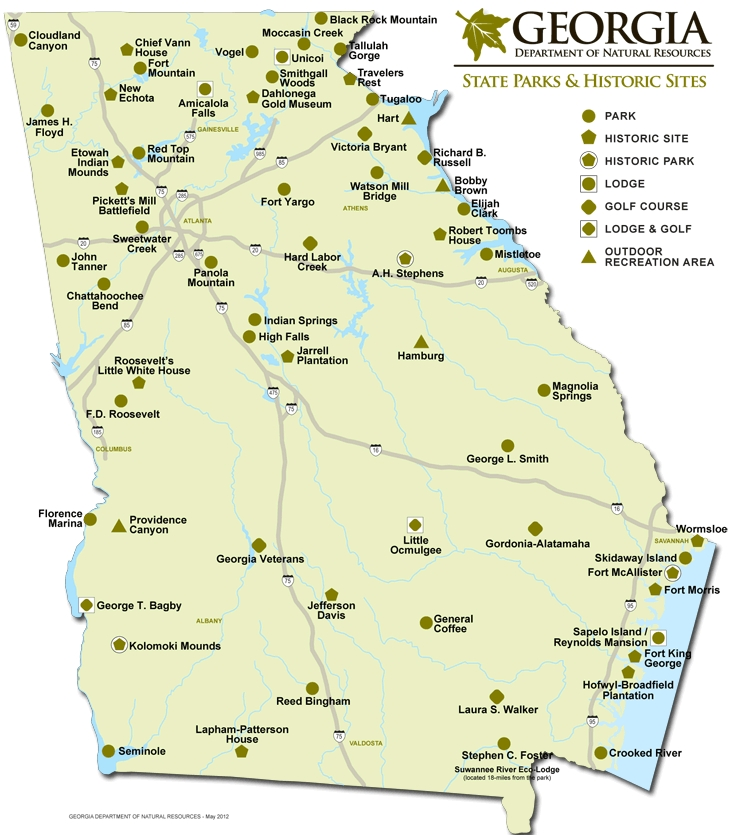 georgia state park website with all hiking and parks available Georgia State Parks With Cabins