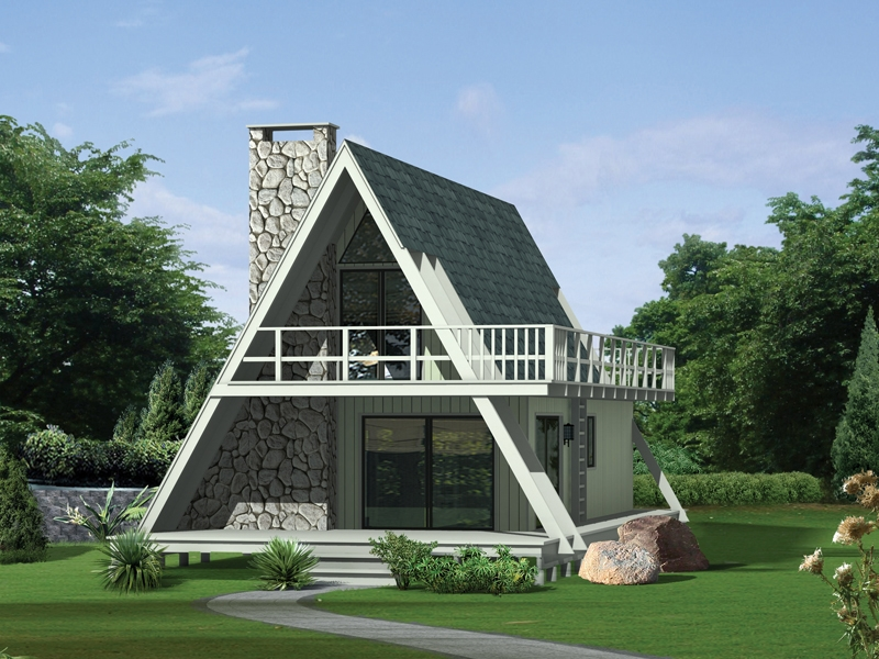 grantview a frame home plan 008d 0139 house plans and more A Frame Cabin With Loft Plans