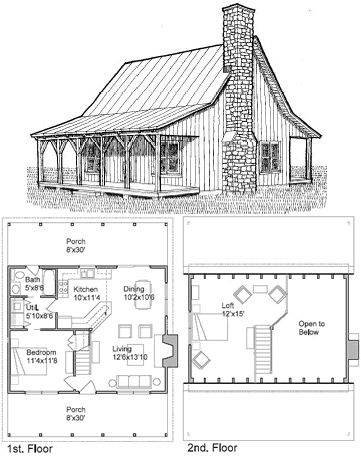 minecraft small cabin blueprints cabin plan ideas Small Cabin Plans With Loft Free