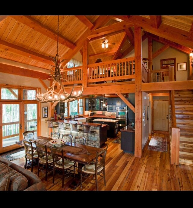 open floor plan with loft wooden walls final plans in 2018 Cabin House Plans With Loft