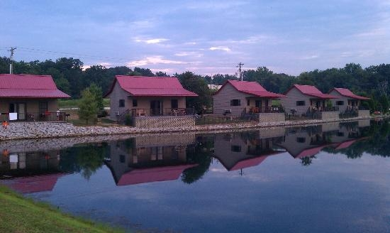 our cabin from the back view picture of santas lakeside cottages Santa Claus Indiana Cabins