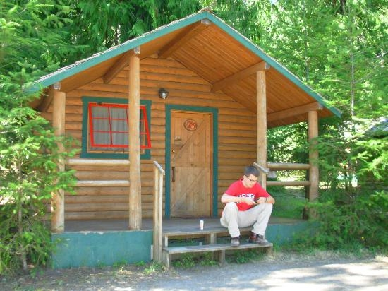 outside of camping cabin picture of log cabin resort olympic Cabins Olympic National Park