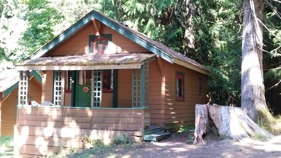rustic sleeping cabin picture of log cabin resort olympic Cabins Olympic National Park