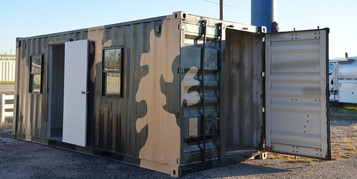 shipping containers make the ideal hunting cabin Shipping Container Hunting Cabin