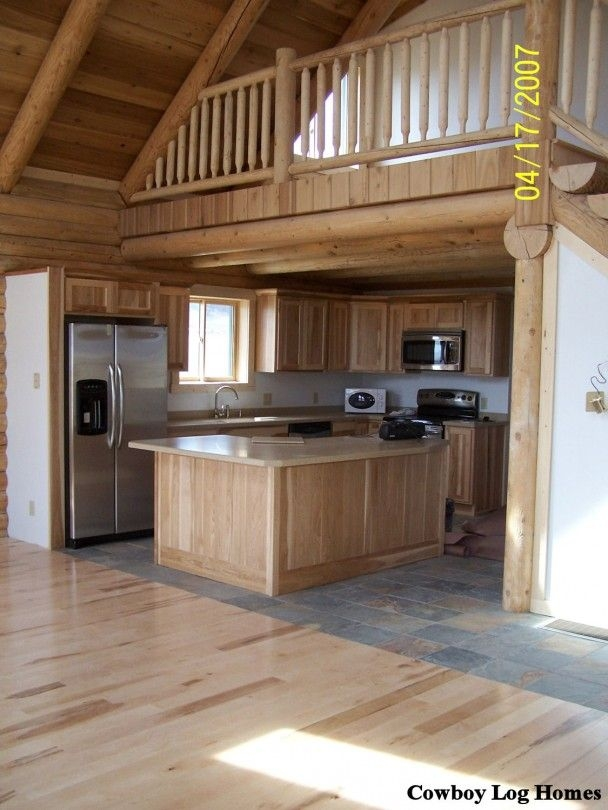 small cabin homes with lofts log cabin loft and kitchen log home Small Log Cabins With Loft