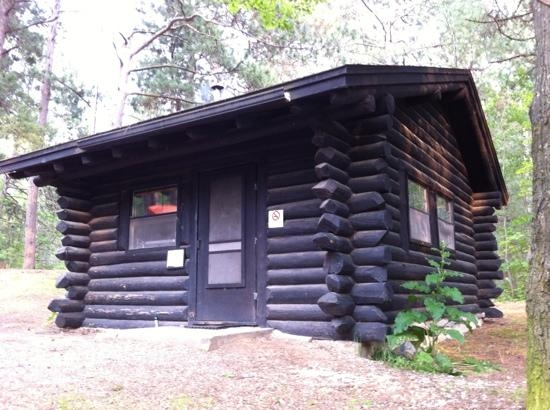 Nebo Cabin Is Simple And Isolated, Deep In The Woods - Picture Of Wilderness  State Park, Carp Lake - Tripadvisor