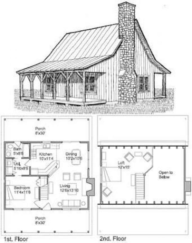 Permalink to Cozy 2 Bedroom Cabin Plans With Loft