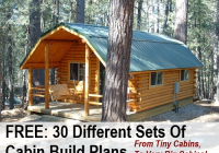 30 free diy cabin blueprints Free Small Cabin Plans With Loft