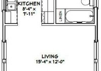 16×30 Small Cabin Plans-16×30 Tiny House — #16X30H1I — 480 Sq Ft – Excellent Floor Plans | Tiny  House Floor Plans, Cabin Floor Plans, Tiny House Plans