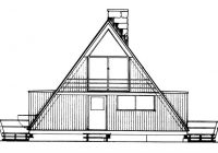 A Frame Cabin Floor Plans-2 Story 2 Bedroom A-Frame House Plan – 1076 Sq Ft, 1 Bath