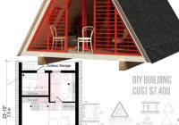 A Frame Cabin Floor Plans-Cute Small Cabin Plans (A-Frame Tiny House Plans, Cottages, Containers) –  Craft-Mart