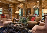 Modern Log Cabin Interior Design-Modern Log Cabin With Authentic Look
