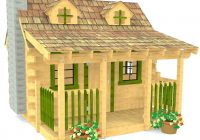 Adirondack Cabin Plans-10×10 Log Cabin Playhouse Plan For Kids – Paul's Playhouses