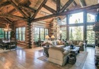 Modern Log Cabin Interior Design-Top 60 Best Log Cabin Interior Design Ideas – Mountain Retreat Homes