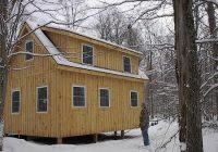 adirondack cabin plans 16×24 with cozy loft and front porch 15 Cabin Plans With Loft And Porch