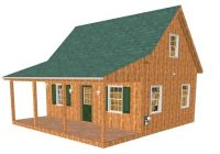 adirondack cabin plans 18×24 with cozy loft and front porch 15 Adirondack Cabin Plans 16 X24 With Loft