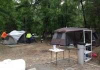 campsite 18 has two tent pads and is large picture of crater of Crater Of Diamonds State Park Cabins