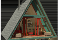 heres a menu of tiny houses for your weekend diy project Small A Frame Cabin Plans With Loft