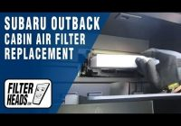 how to replace cabin air filter subaru outback youtube Subaru Outback Cabin Air Filter
