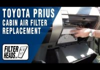 how to replace cabin air filter toyota prius youtube 2010 Prius Cabin Air Filter