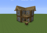 i build this house almost every time i start a new game in minecraft Minecraft Cabin Blueprints