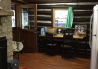 inside the cabin is all one room heres the view standing near the Clear Creek State Park Cabins
